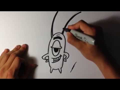 How To Draw Plankton From Spongebob Easy Things To Draw Learn To
