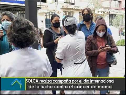 SOLCA realiza campaña por el día internacional de la lucha contra el cáncer de mama