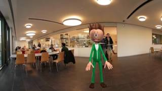 "This is a 360° guided video tour of the Campus Kamp-Lintfort of the Hochschule Rhein-Waal. Best experience on mobile phone, if possible with VR headset. English subtitles are availible.https://www.hochschule-rhein-waal.deMade by Marwin Wiegard, Sarah-Maria Rostalski, Tim Landskron and Johannes Nolte in the course ""Multimedia Technologies"". Lecturer: Prof. Dr. Ido Iurgel.Offical HSRW Channel:https://www.youtube.com/user/HSRheinWaal"