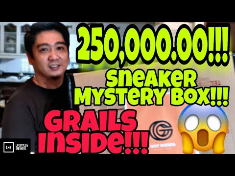 Php250,000.00 (US$ 5,000.00) SNEAKER MYSTERY UNBOXING!!!