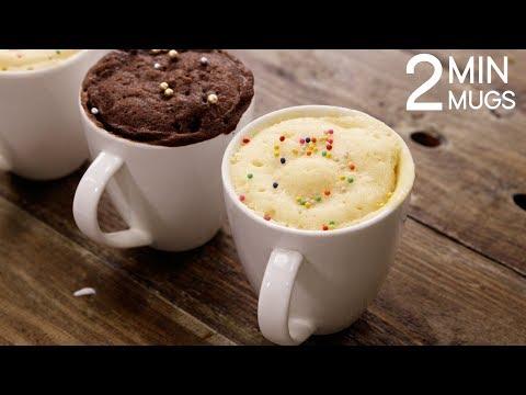 2 Min Mug Cake Recipe - Super Soft & Rich Eggless Microwave Cakes - CookingShooking (видео)