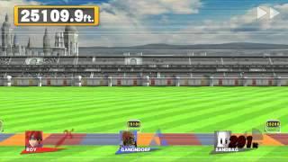 SSB4 [Wii U] Home Run Contest Co-op Roy + Ganondorf 40,757.2 ft. WORLD RECORD?