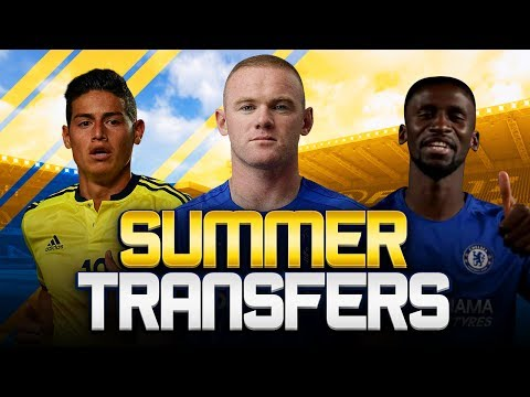 SUMMER TRANSFERS! w/ EVERTON RE-SIGN ROONEY & CHELSEA SIGN RUDIGER! - FIFA 18 ULTIMATE TEAM