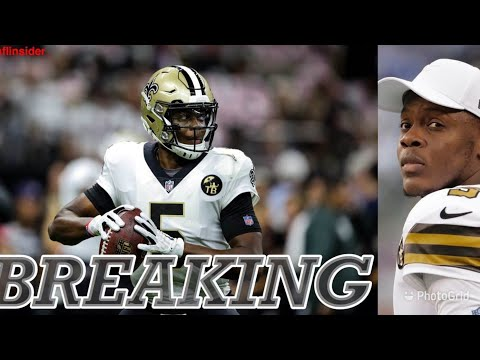 BREAKING NEWS: Saints are officially re-signing QB Teddy Bridgewater to a one-year deal