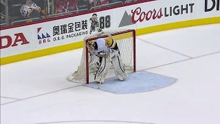 Pittsburgh Penguins goalie Marc-Andre Fleury gives credit where its due, especially when the iron behind him stops a goal.