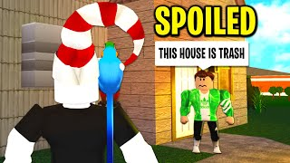 I Adopted A SPOILED KID and He RUINED My Bloxburg Life.. (Roblox)