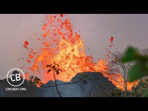 Прямая трансляция извержения вулкана Килауэа на Гавайах