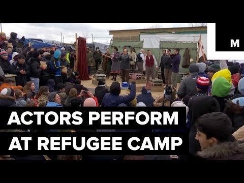 Shakespearean Actors Perform Hamlet for Refugees in Calais Camp