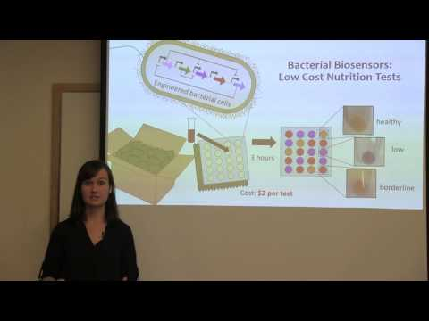 Three-minute Thesis: Bacterial biosensors: Low-cost, Field-friendly Nutrition Tests