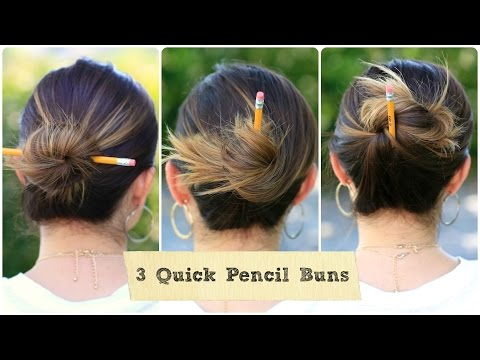 3 Quick Pencil Bun Ideas | Back-to-School Hairstyles