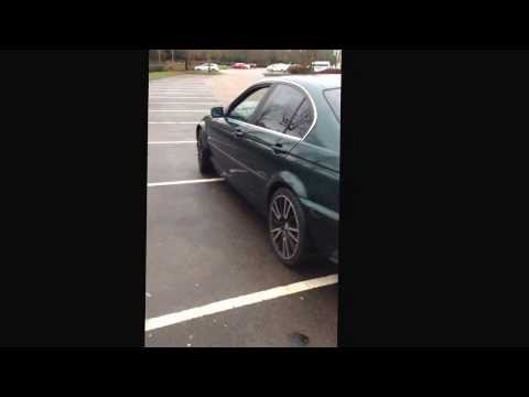 BMW 320i E46 muffler delete ( insane sound)