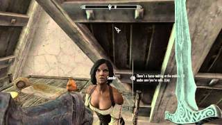 Skyrim, this is the quest In My Time Of Need. Find the redguard woman at the inn at whitrun, You then have the option to Speak...