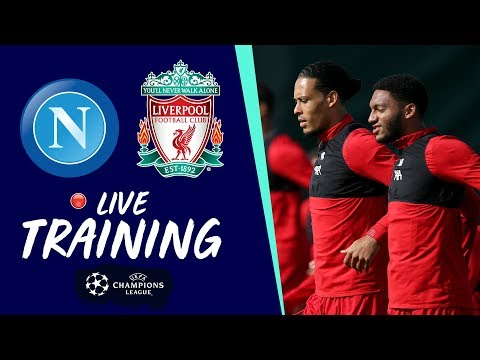 Video: Reds train at Melwood ahead of Champions League opener at Napoli