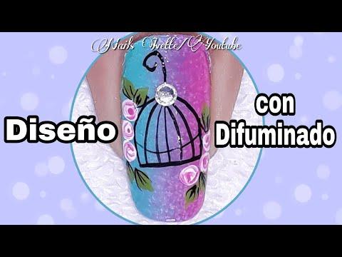 Modelos de uñas - Decoración de uñas con difuminado/diseño de unas vintage/diseño de uñas jaula