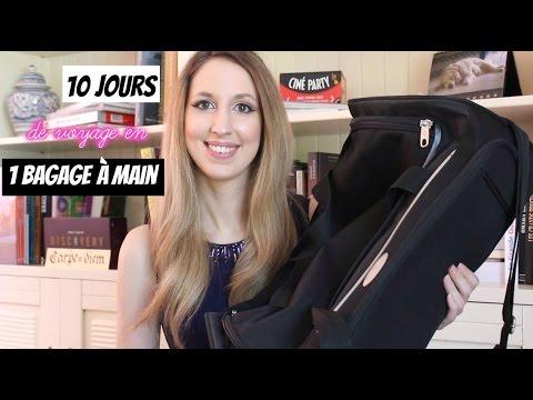 10 jours de voyage en un bagage à main | What's in my bag ?