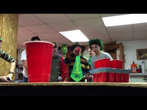 Epic Beer Pong Shot – Dad Sinks Game Winner