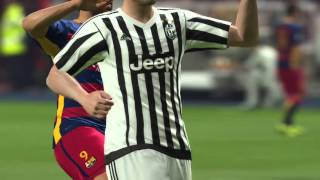 PES  2016 Barcelona x Juventus Gamaplay PT - BR, cup c1,cup c1 chau au,video cup c1,juventus vs Barcelona,