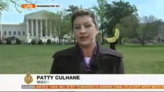 Truth Monkey Photobombs Al Jazeera Live Shot