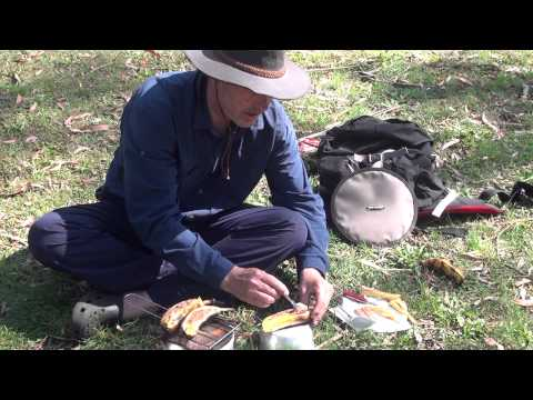 How to cook chocolate bananas on a Trangia stove by AdventurePro