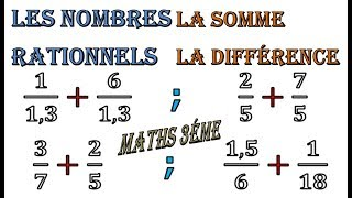 Maths 3ème - Les nombres rationnels Addition et Soustraction Exercice 36