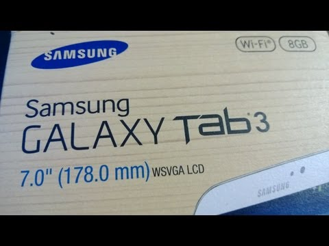 Samsung Galaxy Tab 3: 7 inch - Unboxing, Setup, Demo & Review (Including Talkback Demo)