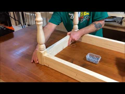 Woodworking table - Easy DIY Rustic Farmhouse Coffee Table