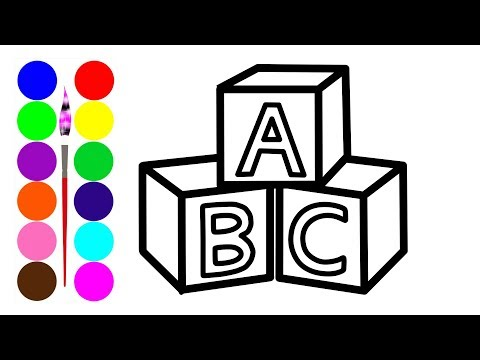 Learn Alphabet ABC coloring and drawing Learn Colors for kids Voving Coloring
