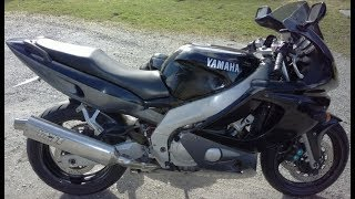 10. HD: Yamaha YZF600R Thundercat, 1997, look around,