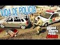 GTA 5 - VIDA de POLÍCIA #17 - POLICIAL MATA LADRÃO DE CARROS - GTA V PC MODS - LSPDFR - PMSC