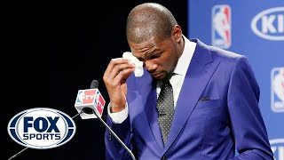 Emotional Kevin Durant accepts NBA MVP
