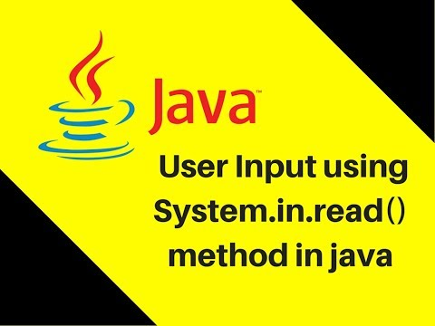 9.3 User Input using System.in.read() method in java (видео)