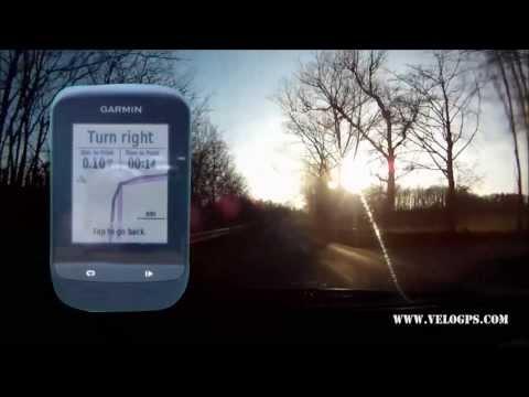 Garmin Edge 510 Course Navigation видео