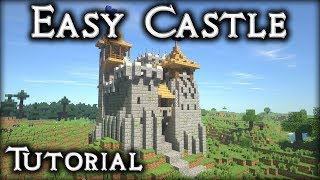 Minecraft Tutorial: How to Make a Castle! (16x16 Oak/Plains)