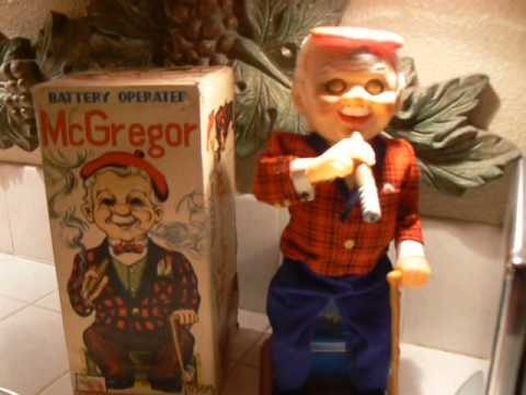 antique Toys 1950's - Vintage Smoking McGregor Mechanical 1950's Toy made in Japan.