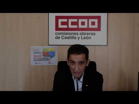 Inauguración. Secretario Gral. CCOO-CyL