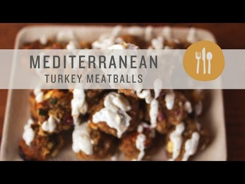 Mediterranean Diet: Mediterranean Turkey Meatball in Yogurt Sauce as Appetizers
