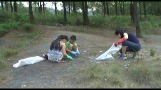 Ra quân làm sạch vệ sinh môi trường tại Hồ Yên Trung và Lựng Xanh