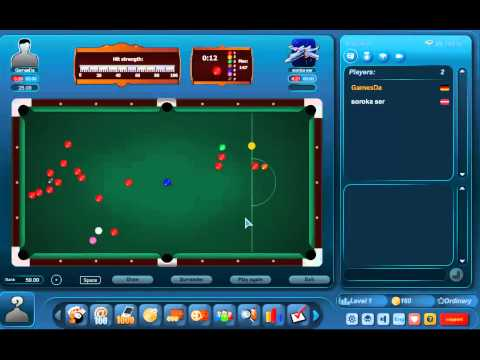 Play free multiplayer snooker at Gamesda.com