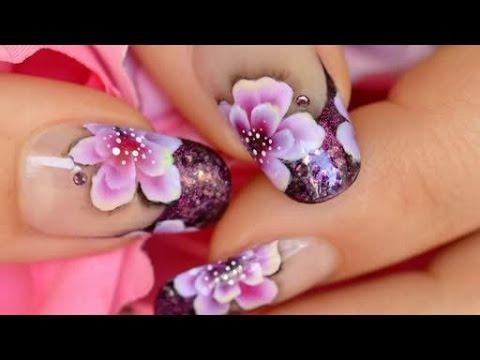 nail art - fiori tropicali