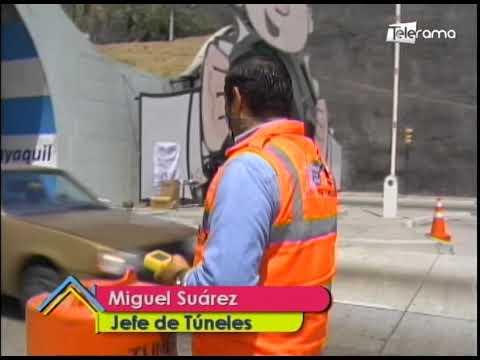 Cierre de carril de túnel San Eduardo por medición de gases que generan los vehículos