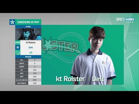2017/7/25 2017AD?? Deft打了接近SSG全隊加起來的傷害丨SSG vs KT Game2