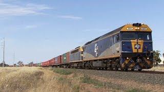 Deniliquin Australia  city photo : EMD Diesels on QUBE Deniliquin Freight: Australian Trains