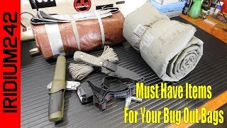 Some Must Have Items For Your Bug Out Bags!