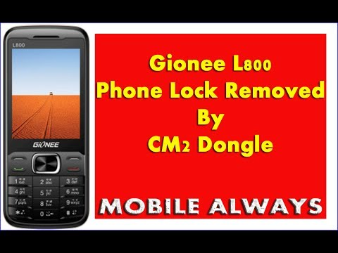 Gionee L800 | Phone Lock Removed | By CM2