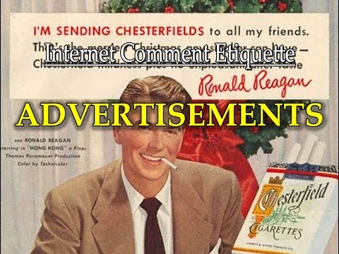 "Internet Comment Etiquette: ""Advertisements"""
