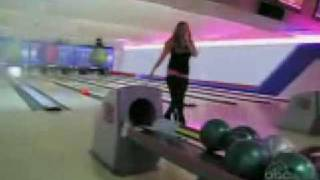 Girl throws bowling ball... Very funny