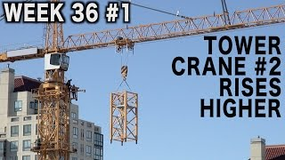 Video Tower crane #2 rises higher (Week 36 construction clips set #1) MP3, 3GP, MP4, WEBM, AVI, FLV September 2018