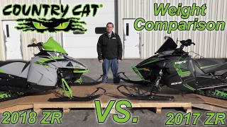 9. Country Cat - Weight Comparison Between 2018 & 2017 Arctic Cat ZR 8000