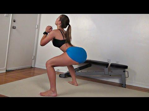 Sıkı Bacaklar ve Kalça İçin Squat