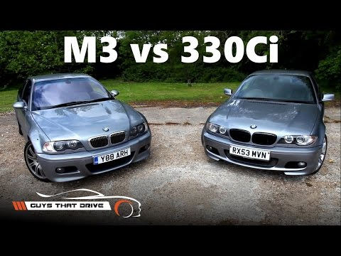 BMW E46 M3 vs E46 330Ci, comparison review with stock exhausts, Part 1 of 2 | The GTD Garage